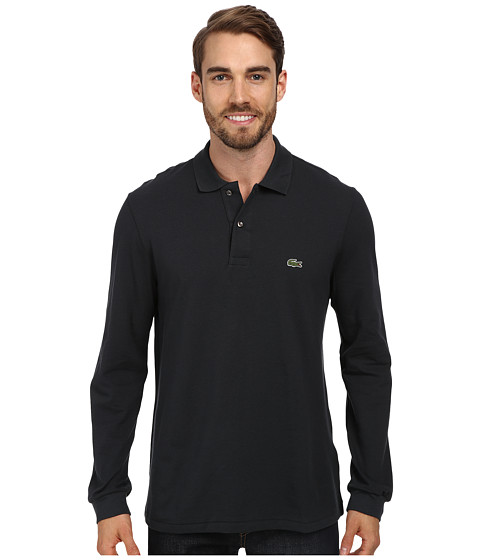 Lacoste - L/S Classic Pique Polo (Stormy Grey) Men's Long Sleeve Pullover