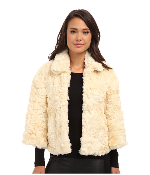 French Connection - Polar Teddy 75CAV (Cream) Women's Coat