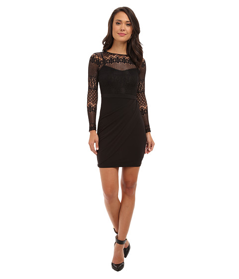 French Connection - Lace Drape 71CIN (Black) Women