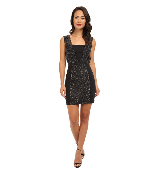 French Connection - Angelfire Sparkle 71CEY (Black) Women's Dress