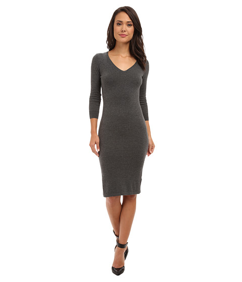 French Connection - Bambino Knits 71CJN (Dark Grey Melange) Women's Dress