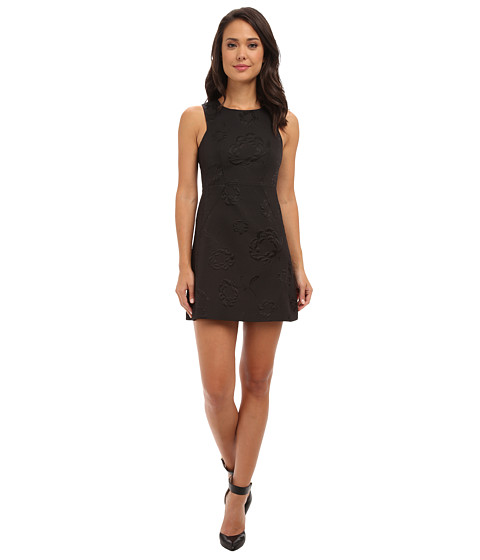 French Connection - Supernova Star Jacquard 71CCY (Black) Women's Dress