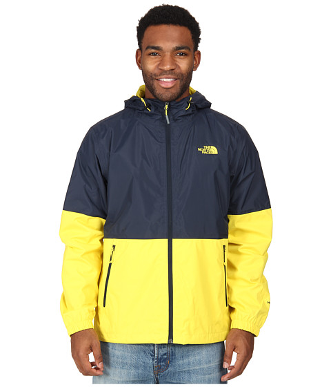 The North Face - Allabout Jacket (Outer Space Blue/Acid Yellow) Men's Coat