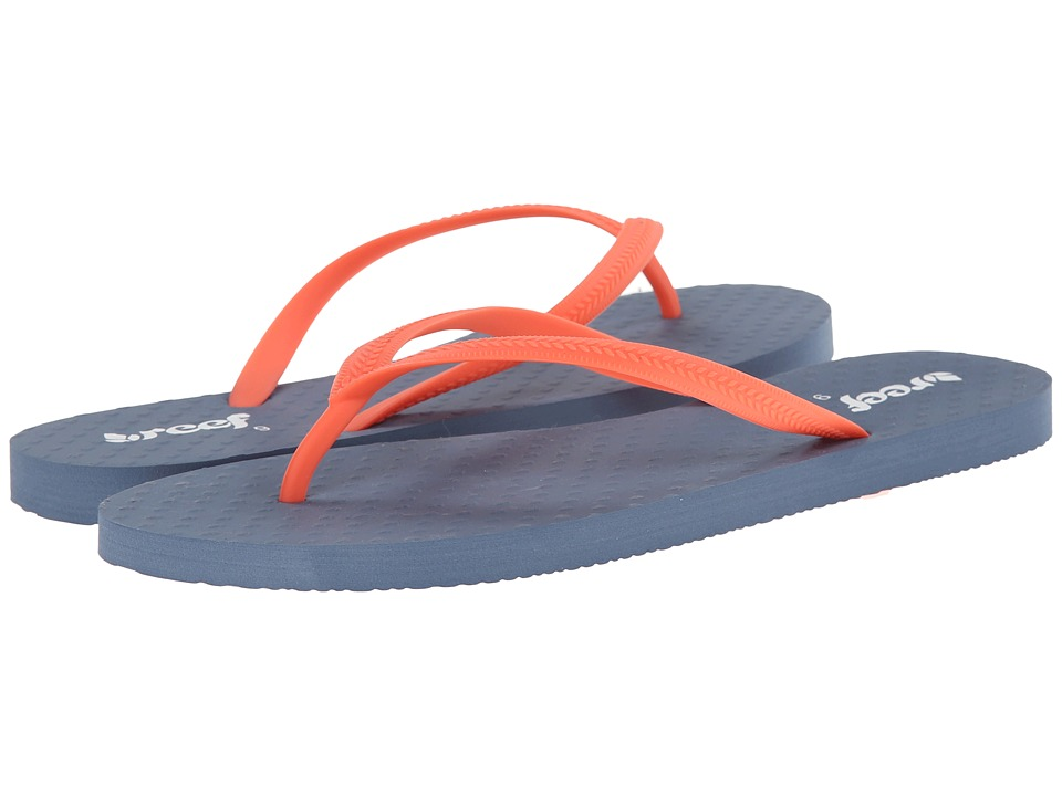 Reef - Chakras (Blue/Coral) Women's Sandals