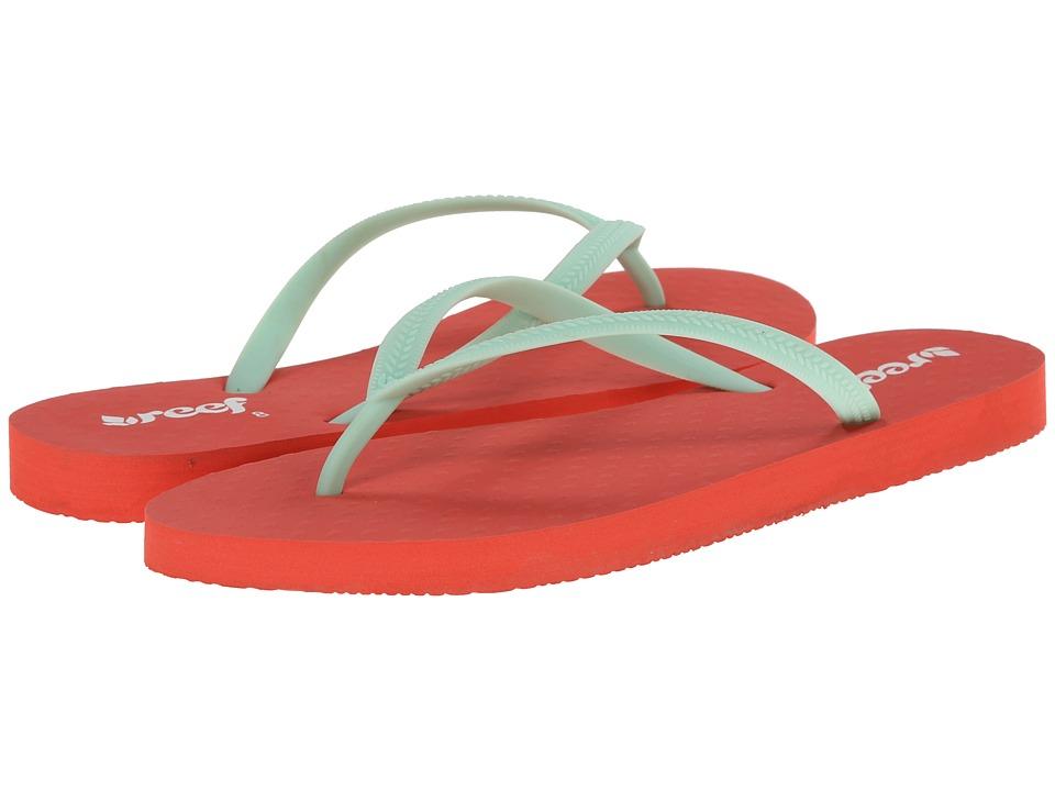 Reef - Chakras (Coral/Aqua) Women's Sandals