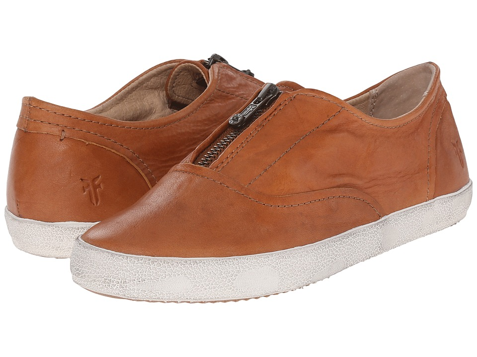 Frye - Dylan Zip Moto (Cognac Washed Smooth Vintage) Women