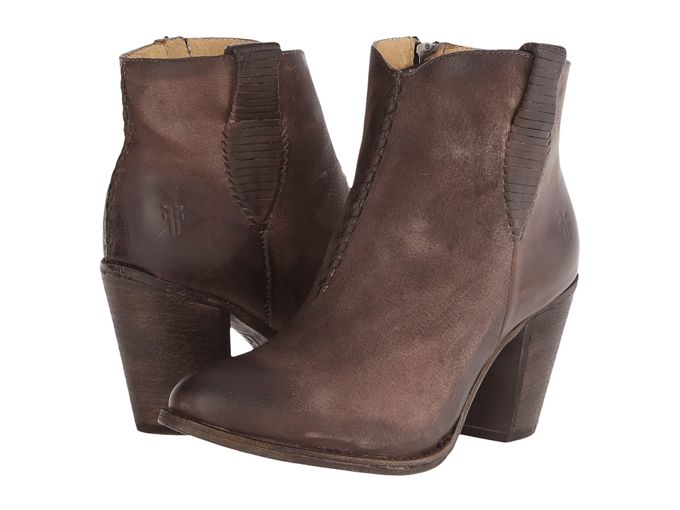 Frye - Ilana Whipstitch (Taupe Buffalo Nubuck) Cowboy Boots