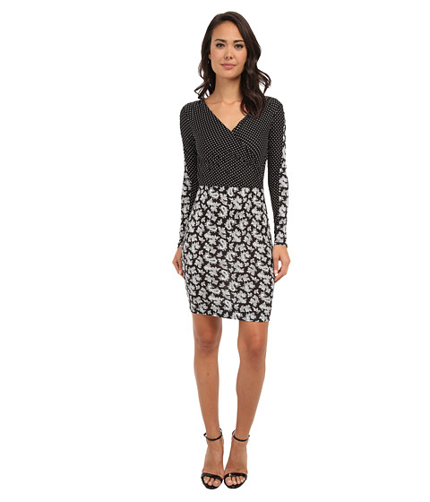 French Connection - Mini Paisley Party 71CPJ (Black Multi) Women's Dress
