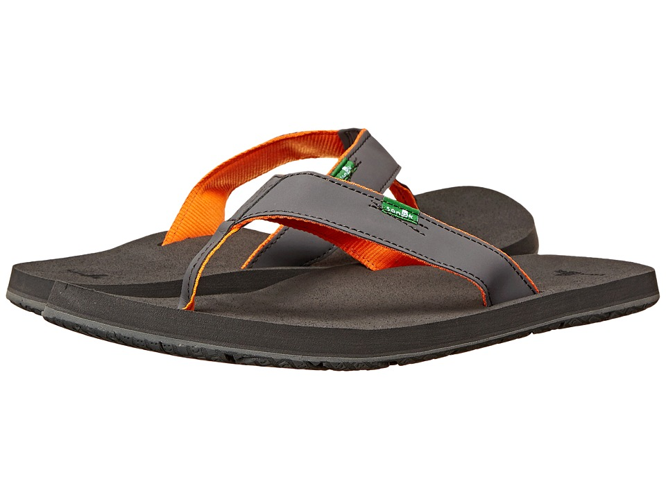 Sanuk - Longitude (Charcoal/Charcoal/Orange) Men's Sandals