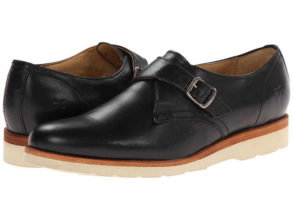 Frye - Jade Monk (Black Smooth Vintage Pull Up) Women's Slip on Shoes