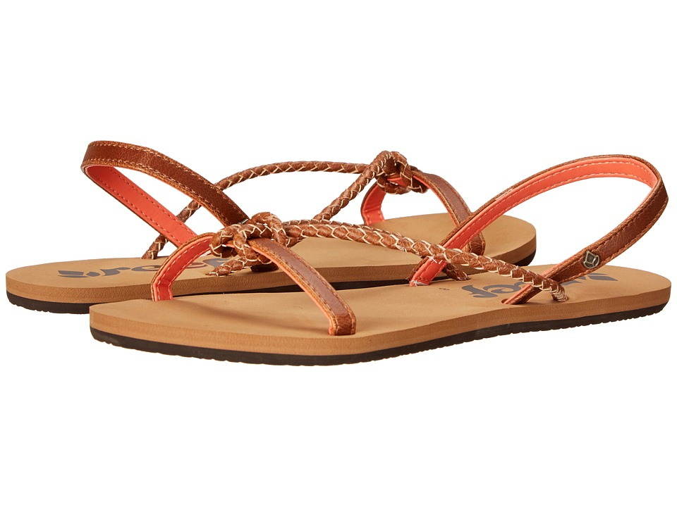 Reef - Knots and Bolts (Tan/Coral) Women's Sandals