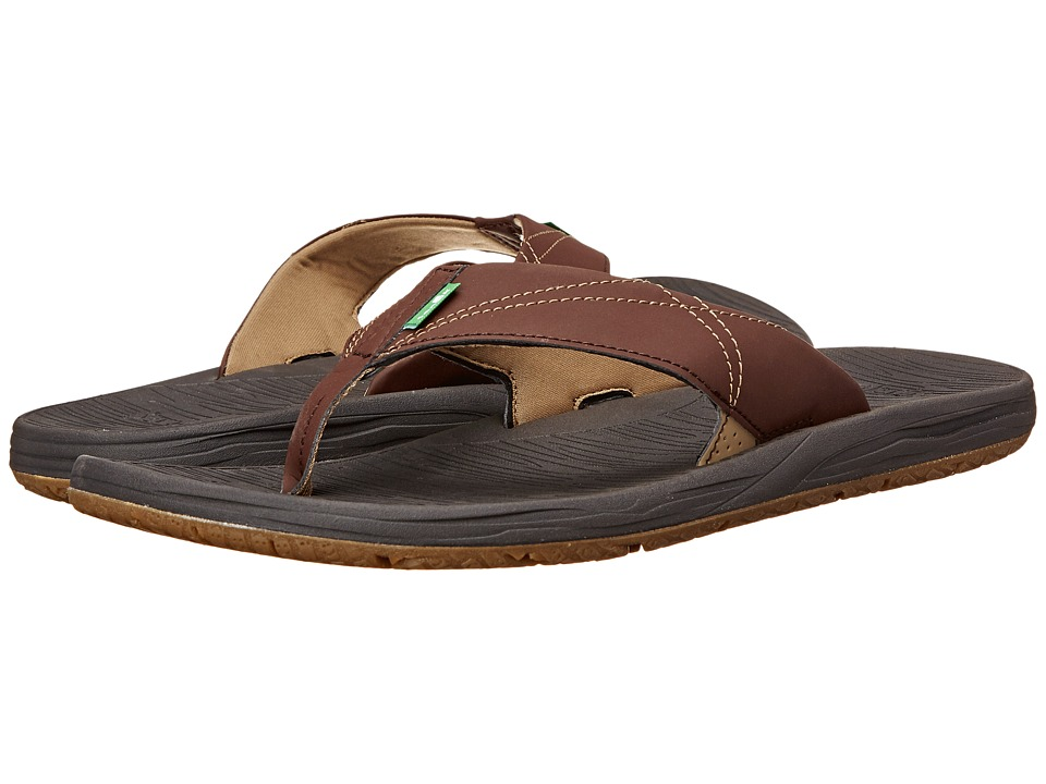 Sanuk - Latitude (Dark Brown/Earth) Men's Sandals