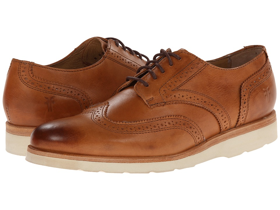 Frye Jade Wingtip Tan Smooth Vintage Pull Up Womens Lace up casual Shoes