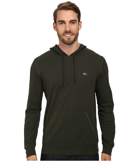 Lacoste - Jersey T-Shirt Hoodie (Everglade Green) Men