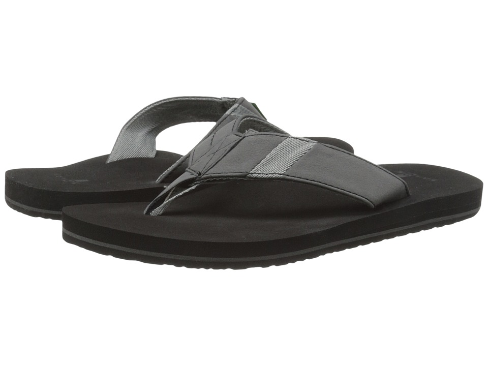 Sanuk - Jet Stream (Black) Men's Sandals