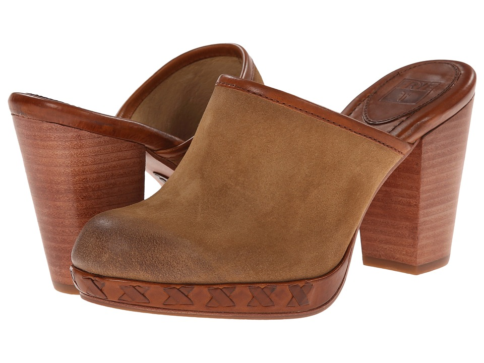 Frye - Jessica Bohemian Slide (Camel Oiled Suede) Women's Clog Shoes