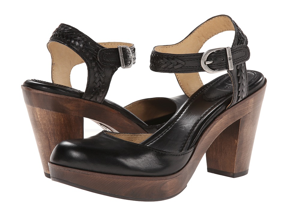 Frye - Jessie Bohemian Two Piece (Black Smooth Vintage Pull Up) High Heels