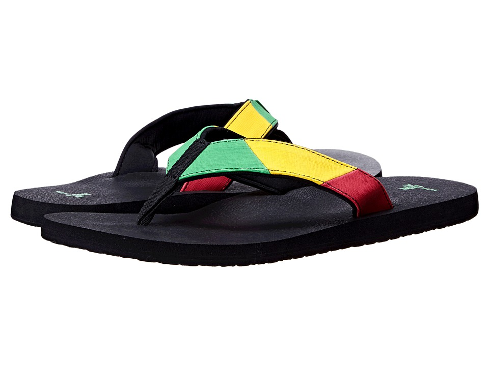 Sanuk - Block Party (Rasta) Men's Sandals