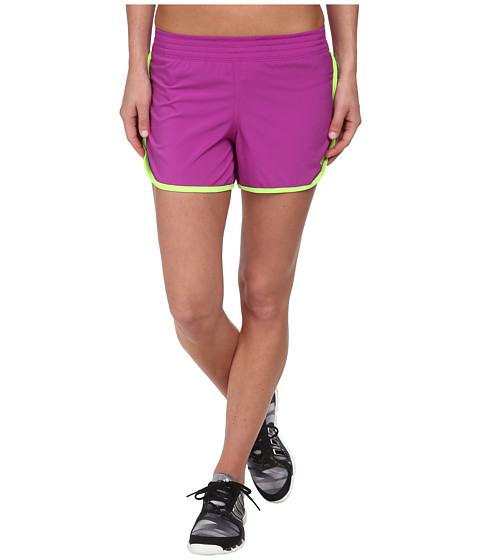 The North Face - Reflex Core Short (Magic Magenta/TNF White/Safety Green) Women