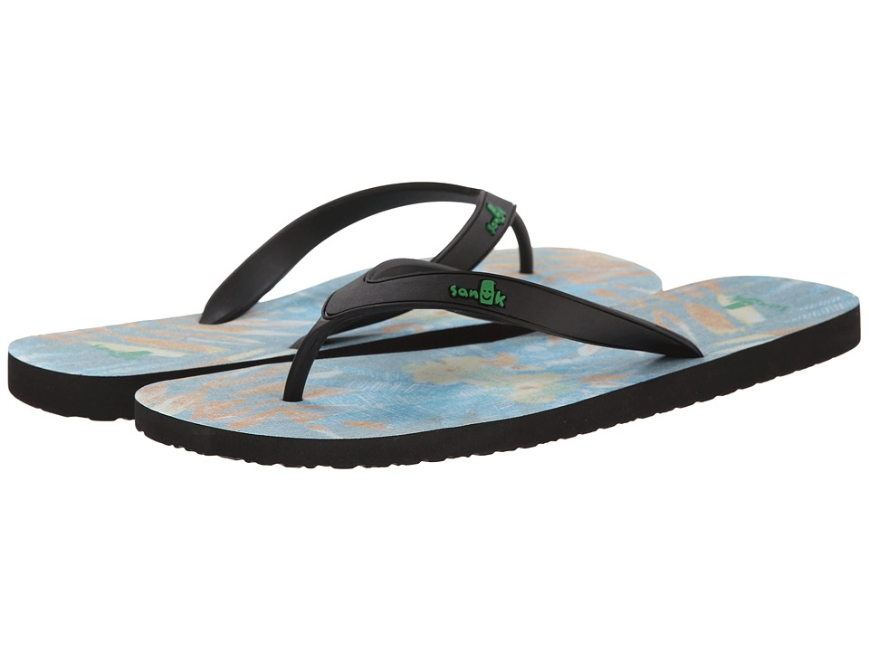 Sanuk - Tropic Funder (Black/Washed Red) Men's Sandals