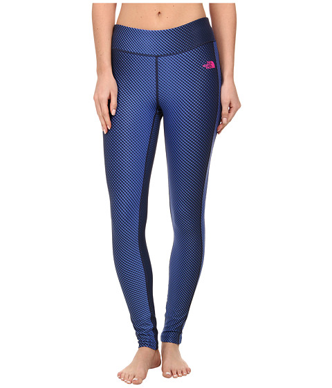 The North Face - Pulse Tight (Ink Spot Blue Print) Women's Workout