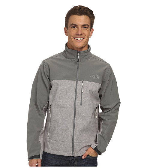 The North Face - Apex Bionic Jacket (Moonstruck Grey Heather/Sedona Sage Grey) Men
