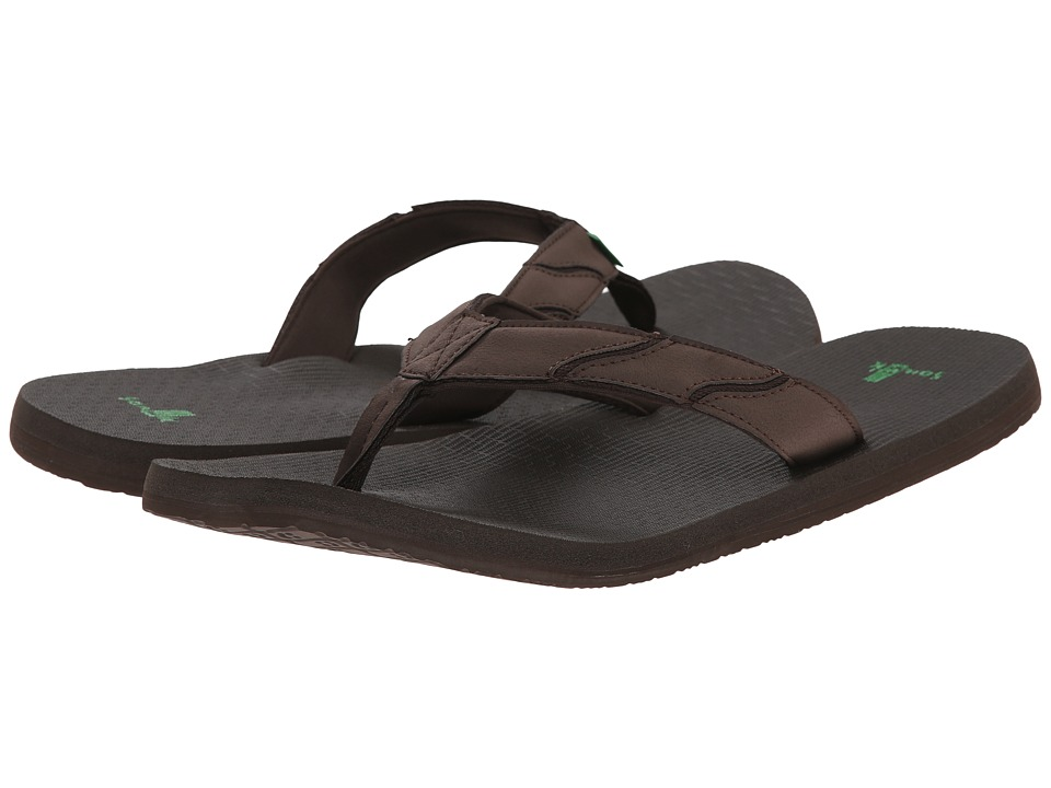 Sanuk - Shockwave (Brown) Men's Sandals