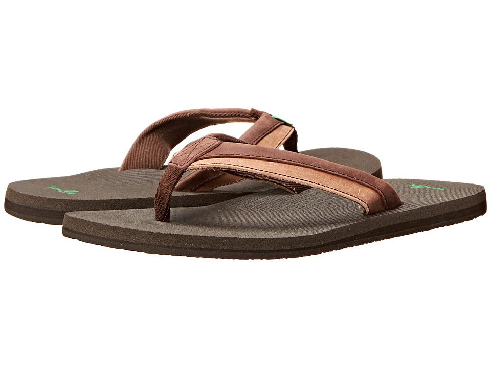 Sanuk - Beer Cozy Primo Light (Dark Brown/Brown) Men's Sandals