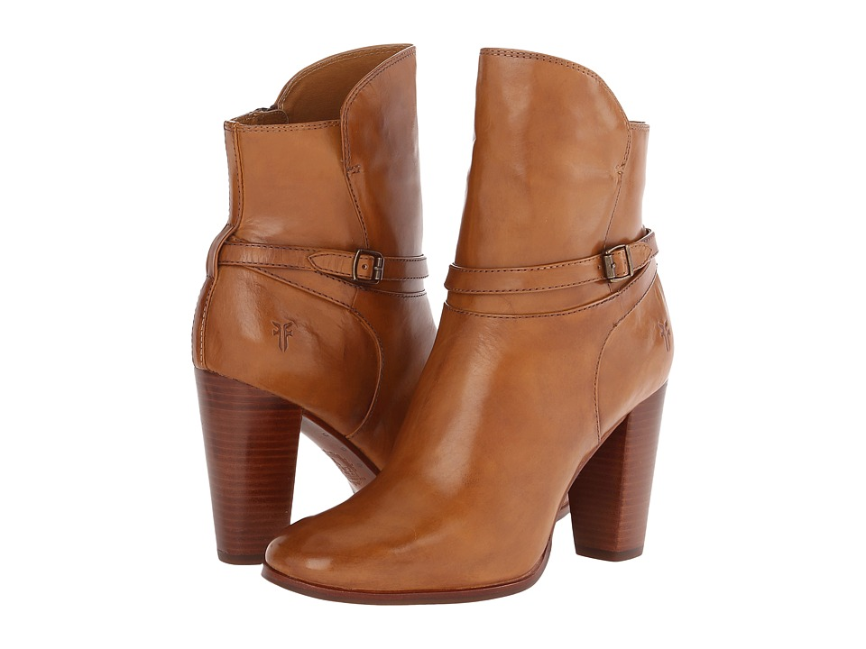 Frye - Laurie Zip Short (Camel Smooth Polished Veg) Cowboy Boots