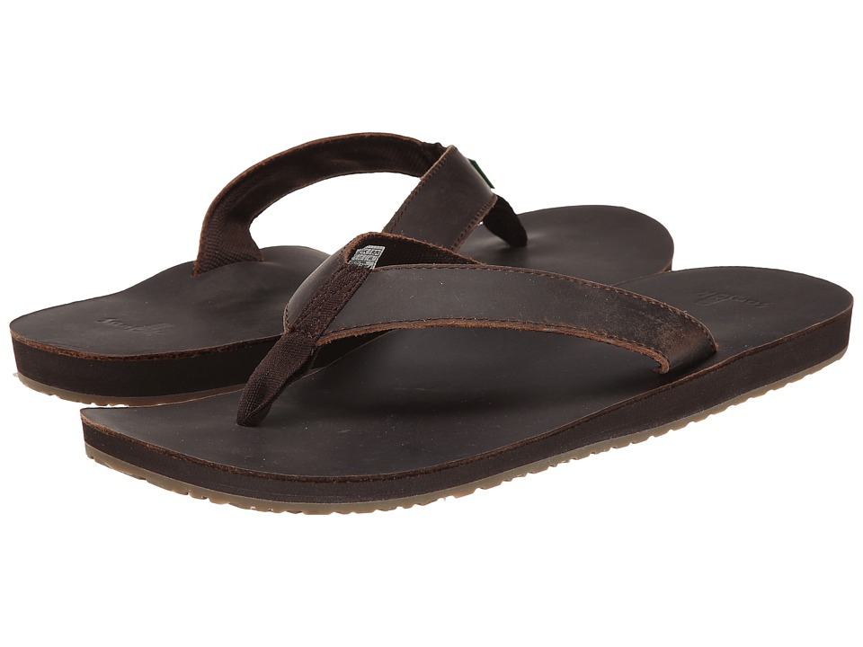 Sanuk - John Doe (Dark Brown) Men's Sandals