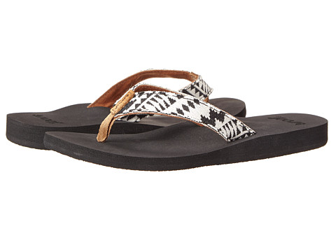 Reef - Midday Tides (Black/White) Women's Sandals