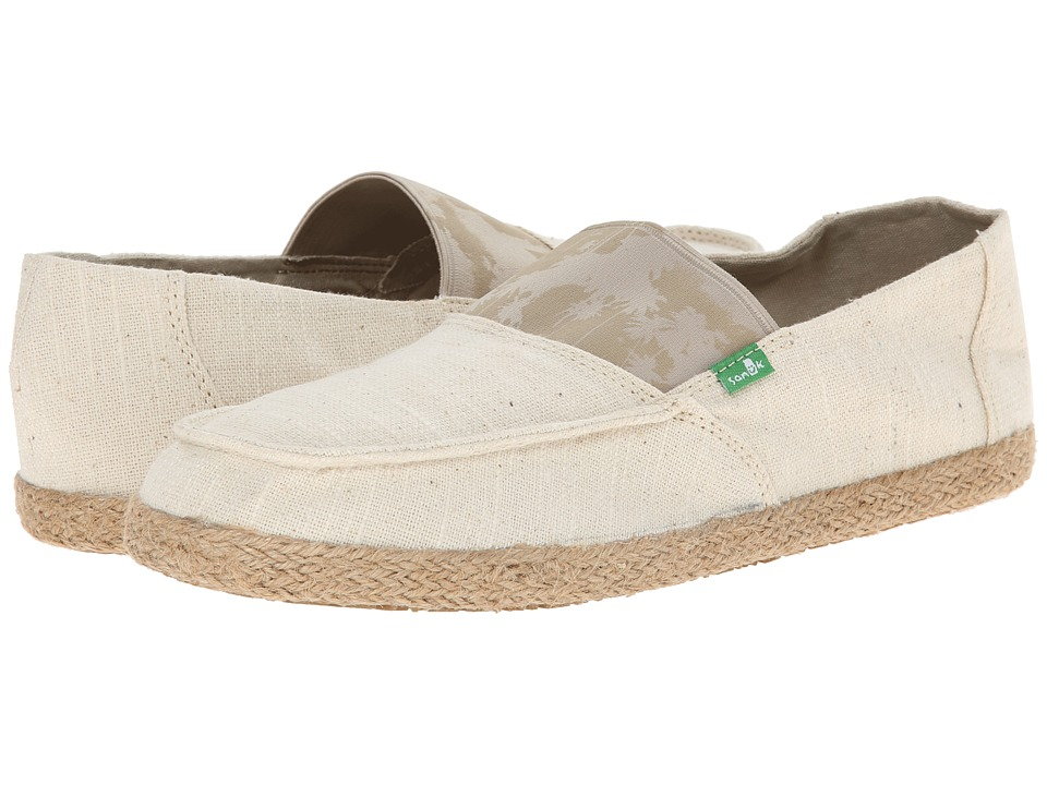Sanuk - Commodore Stretch (Natural Hazy Palms) Men's Slip on Shoes
