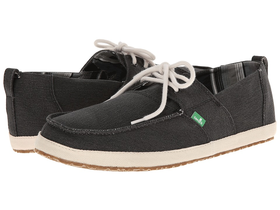Sanuk - Admiral (Black) Men's Slip on Shoes