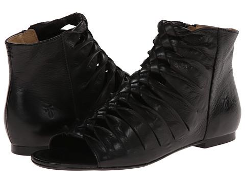 Frye - Marlene Twisted Sandal (Black Soft Vintage Leather) Women