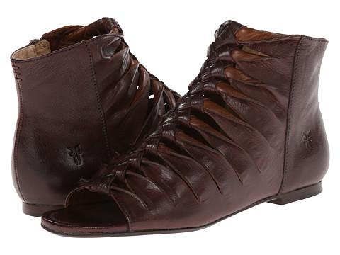 Frye - Marlene Twisted Sandal (Dark Brown Soft Vintage Leather) Women's Sandals