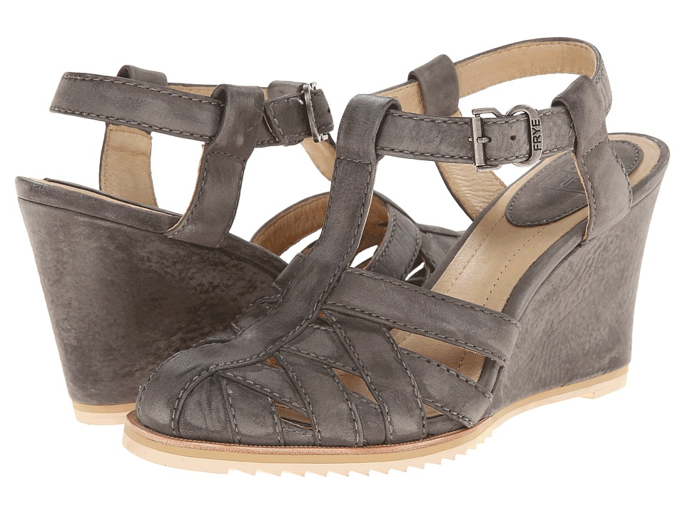 Frye - Maye Fisherman (Charcoal Sunwash Nubuck) Women's Wedge Shoes