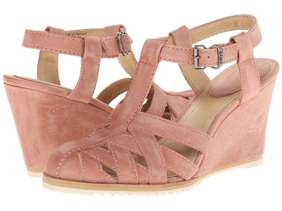 Frye - Maye Fisherman (Dusty Rose Sunwash Nubuck) Women's Wedge Shoes