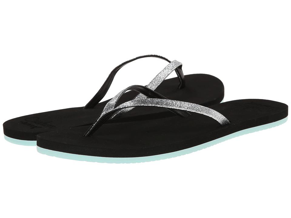 Reef - Cushion Glitz (Black/Aqua) Women's Sandals