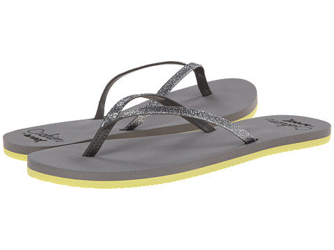 Reef - Cushion Glitz (Grey/Yellow) Women's Sandals