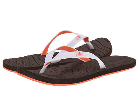 Reef - Swells (Brown/White/Coral) Women's Sandals