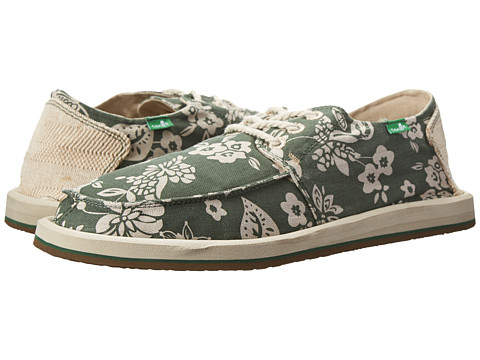 Sanuk - Drewby Chillin (Dark Olive/Print) Men's Slip on Shoes
