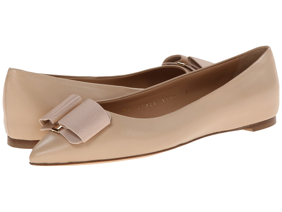 Salvatore Ferragamo - Mimi (New Bisque) Women's Dress Flat Shoes