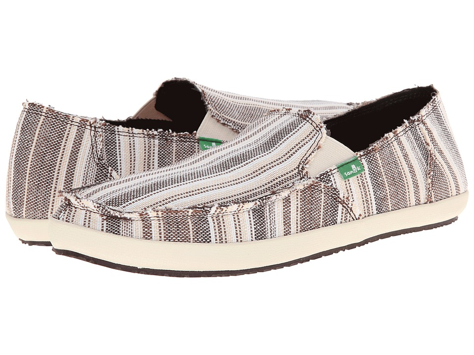 Sanuk - Rounder Hobo Funk (Brown Stripe) Men's Slip on Shoes