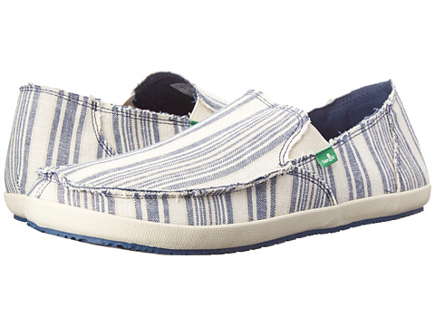 Sanuk - Rounder Hobo Funk (Denim Natural Blanket) Men's Slip on Shoes