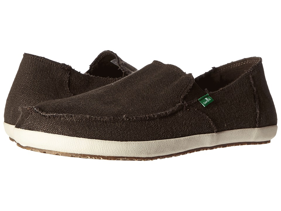 Sanuk - Rounder Hobo (Dark Brown) Men's Slip on Shoes