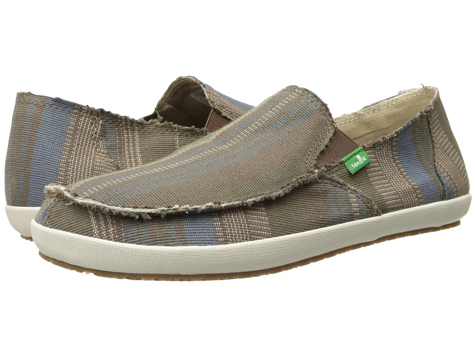Sanuk - Rounder Hobo Classic (Blue) Men's Slip on Shoes