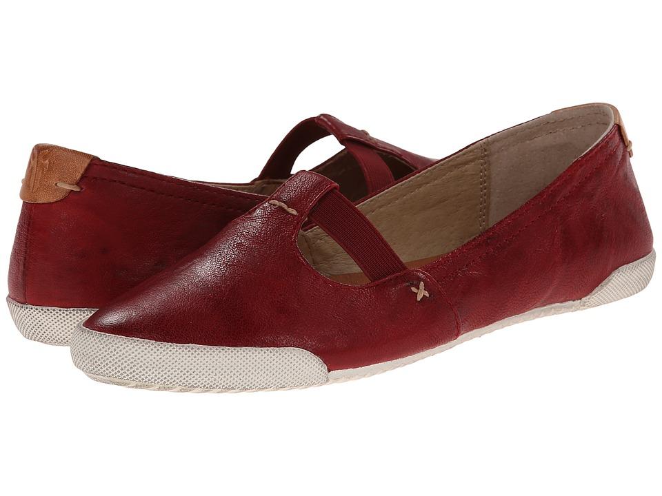Frye - Melanie T Strap (Burnt Red Antique Soft Vintage) Women's Flat Shoes