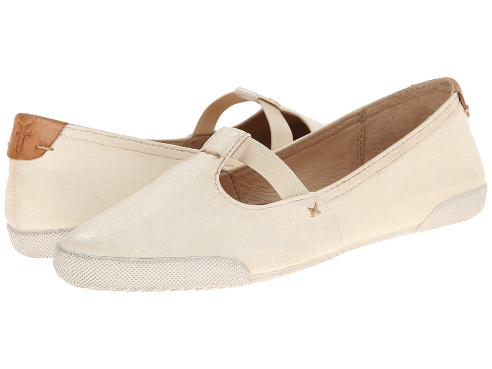 Frye Melanie T Strap (Off White Antique Soft Vintage) Women