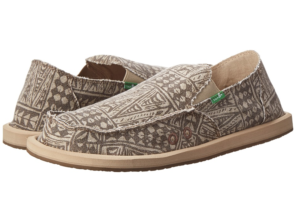 Sanuk - Donny Tribal (Tan Tribal) Men's Slip on Shoes