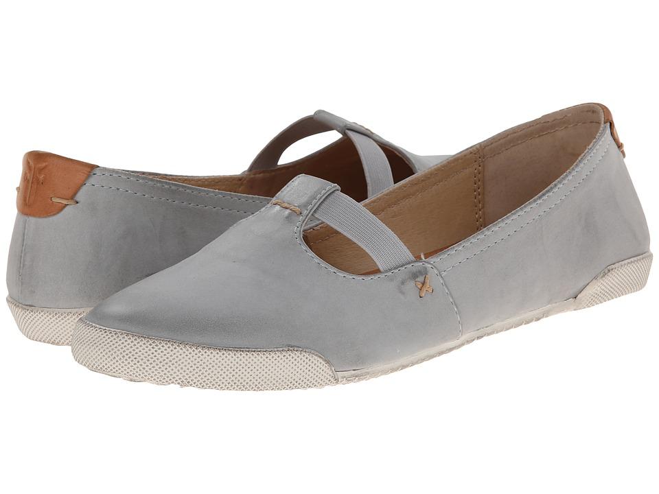 Frye - Melanie T Strap (Ice Buffed Nubuck) Women's Flat Shoes